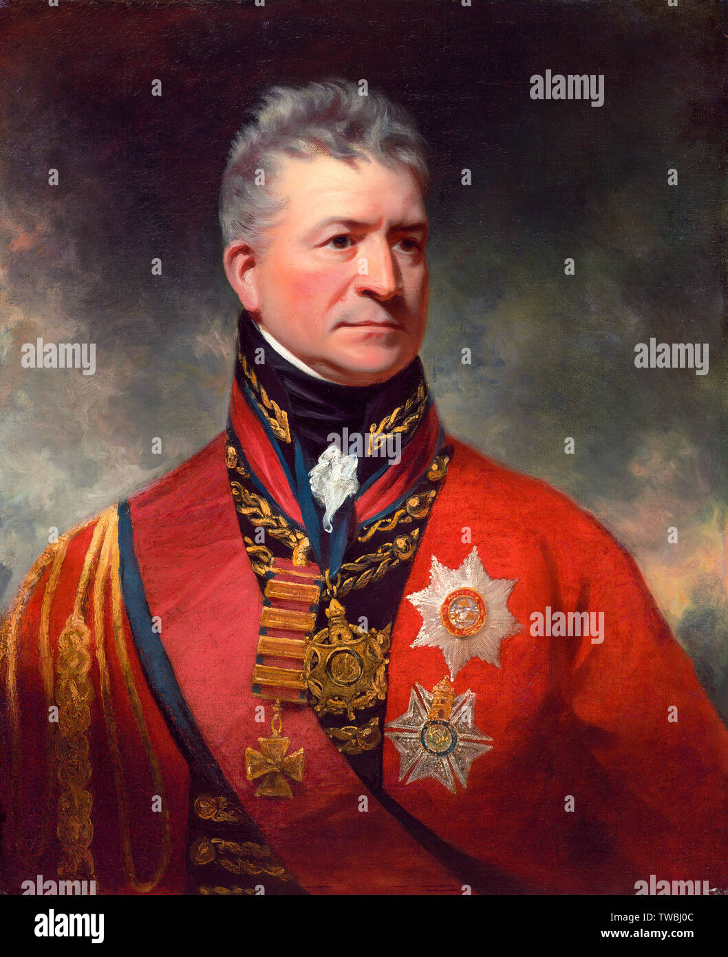 Lieutenant-General Sir Thomas Picton, 1758-1815, portrait painting, circa 1815 - Stock Image