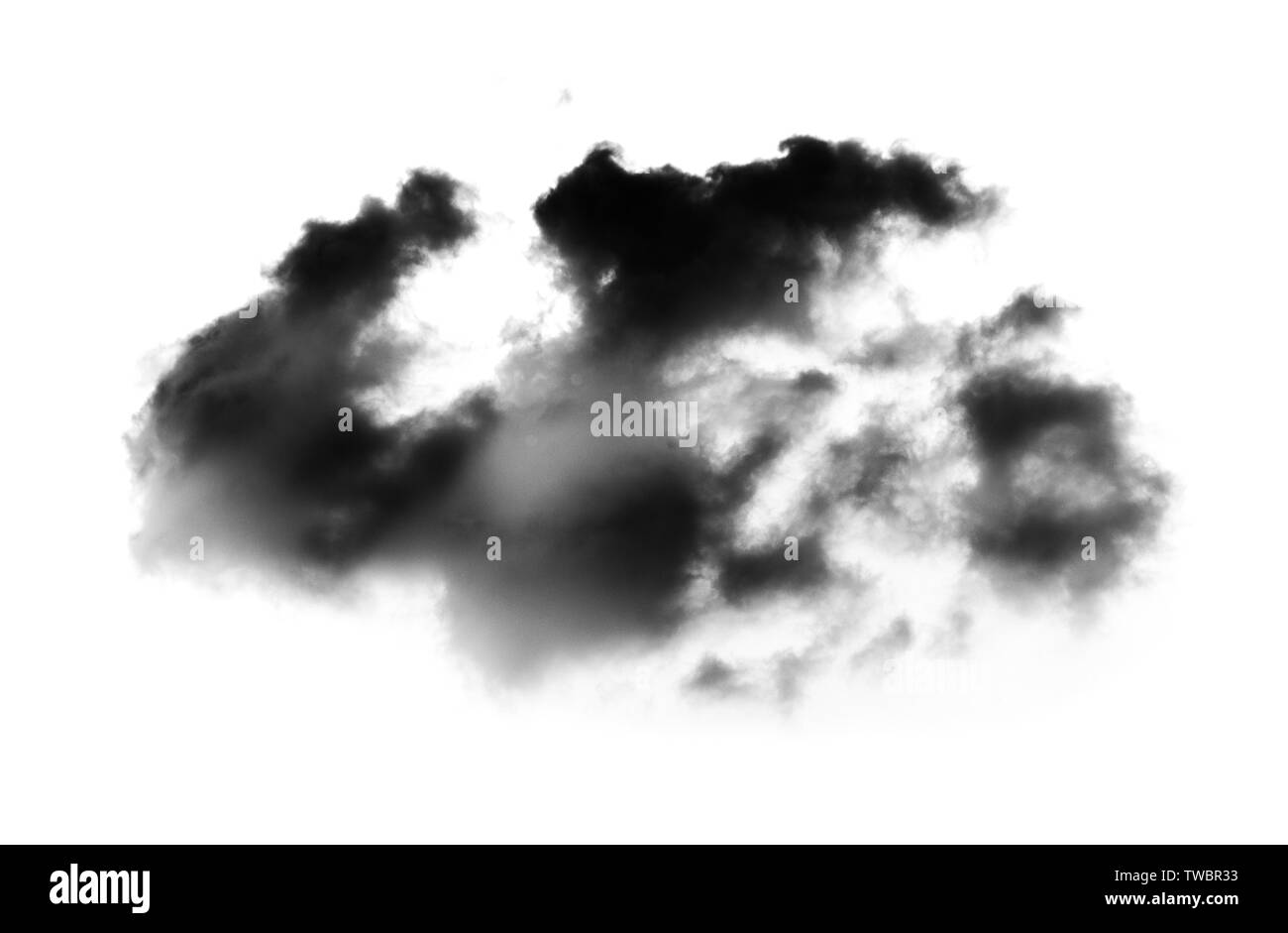 Clouds on white background. sky background - Stock Image