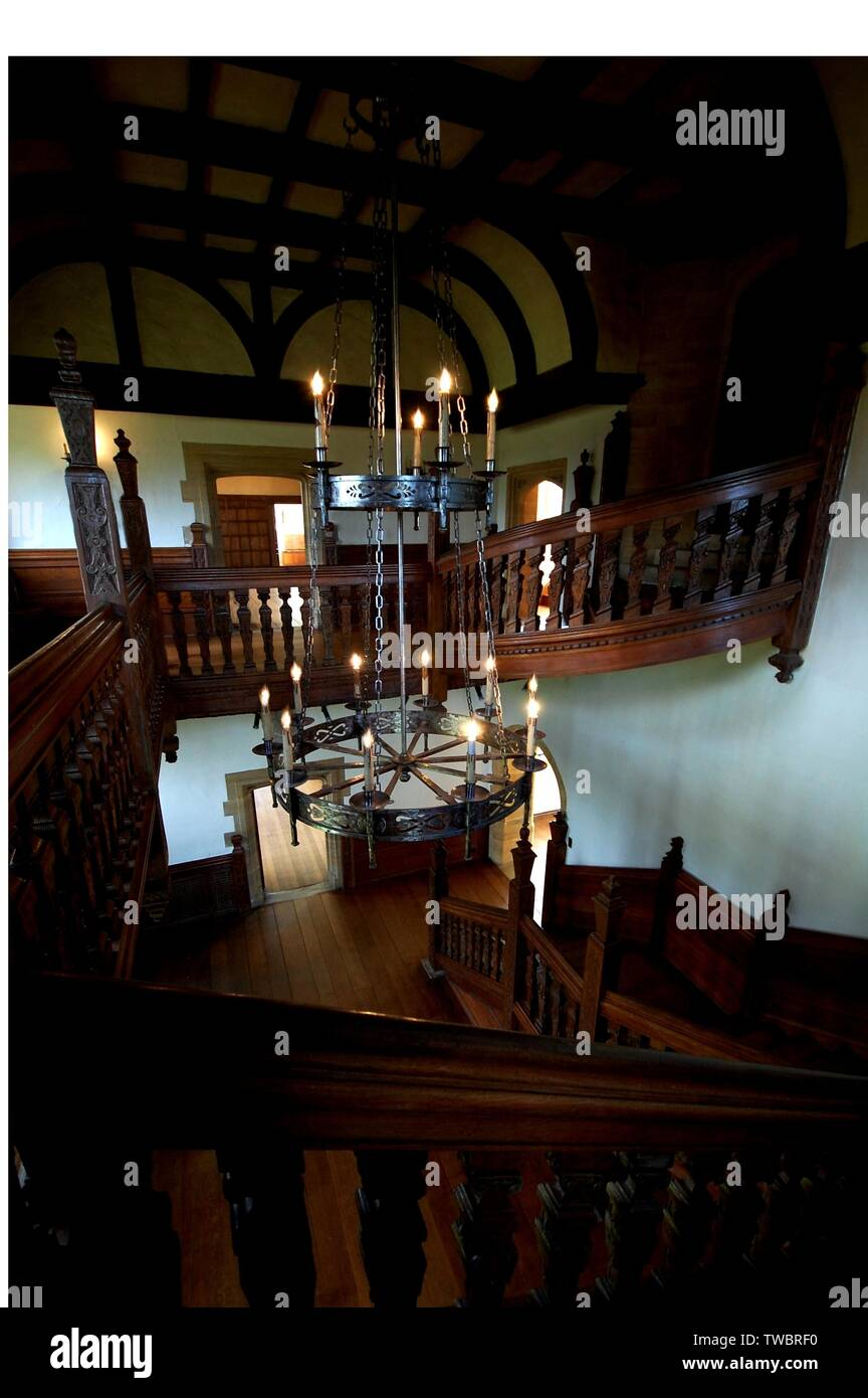 Haunted English House interior - Stock Image