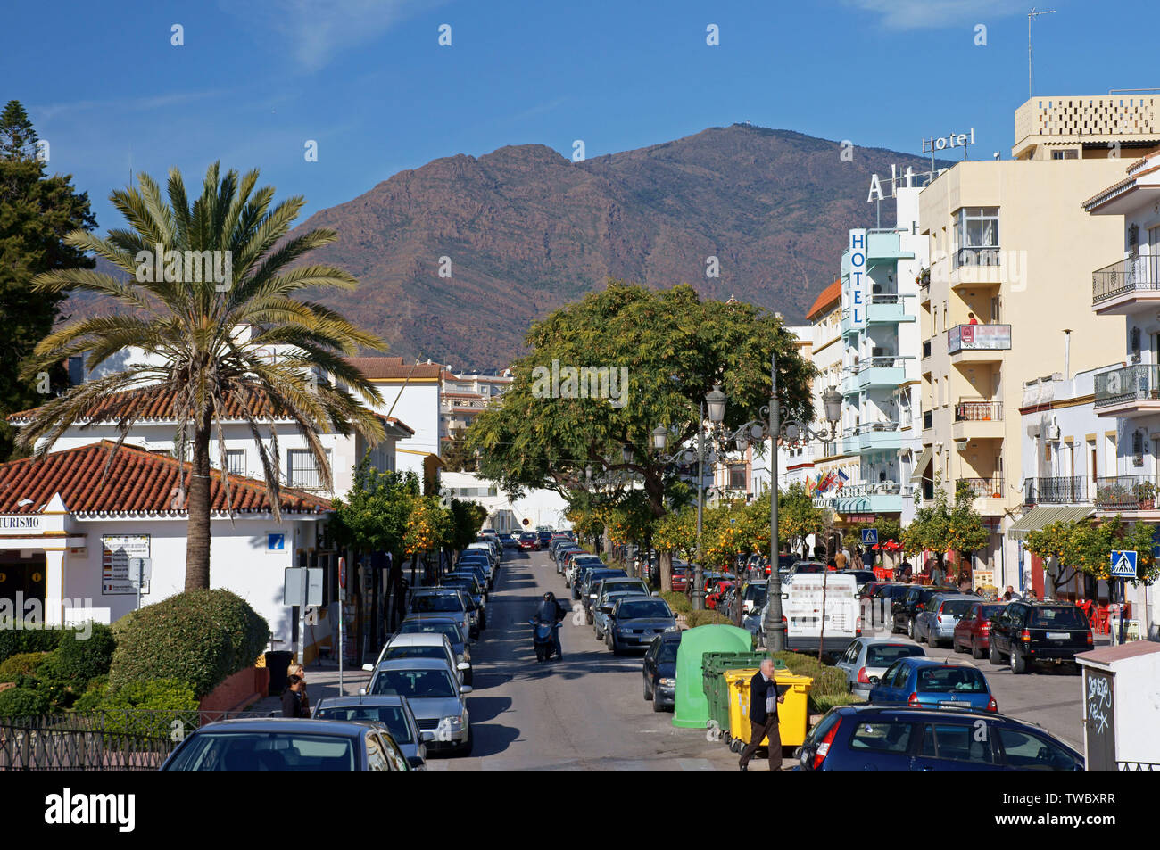 Andalucia in Spain: central Estepona - Stock Image