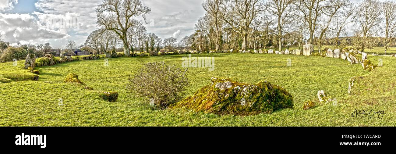 Stone Circle Grange Co Limerick Ireland Stock Photo