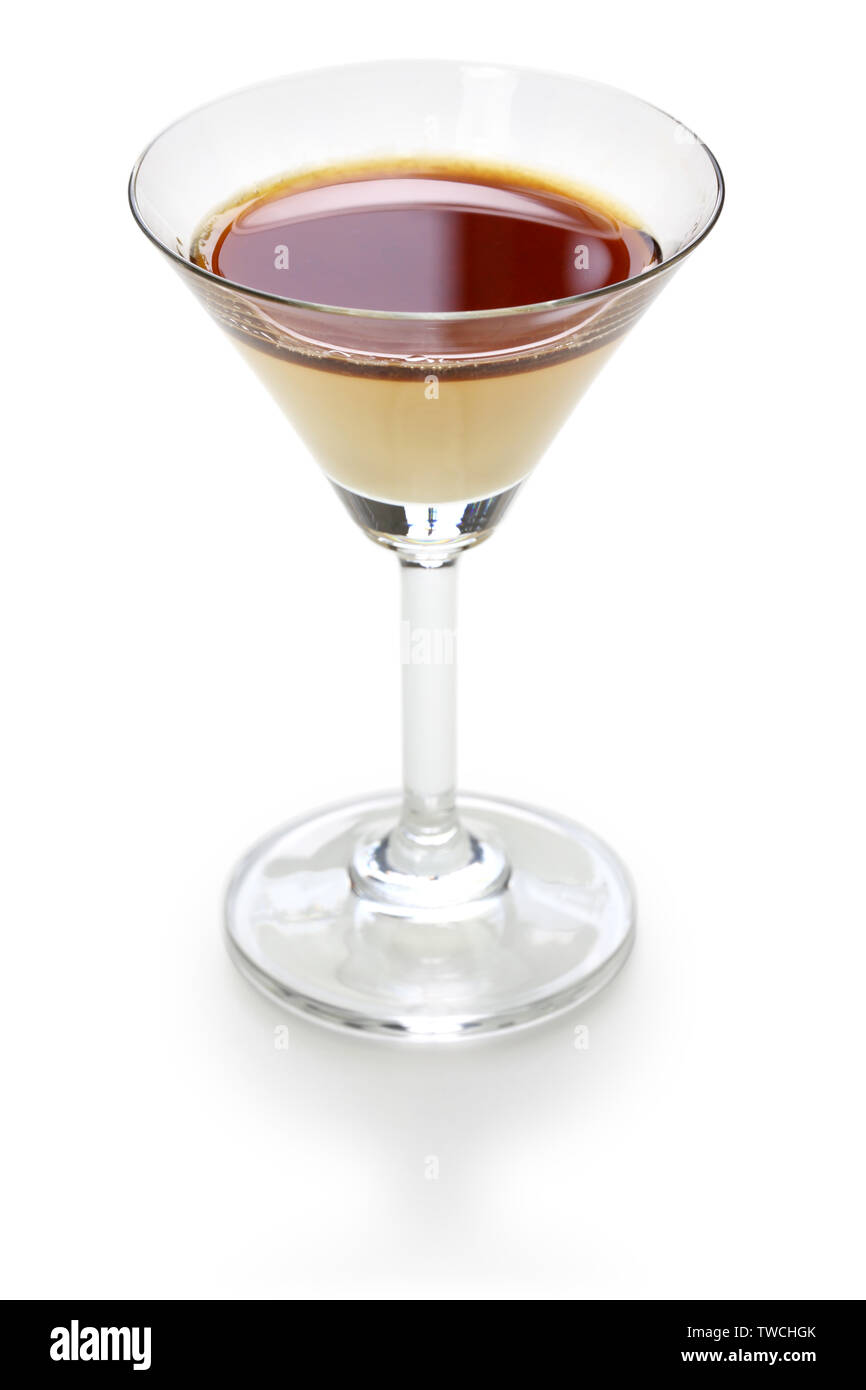 two color layered coffee cocktail - Stock Image