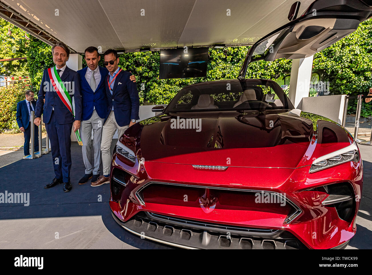 Piedmont Turin - Turin auto show 2019  - Valentino park - personalities visit the stands Stock Photo