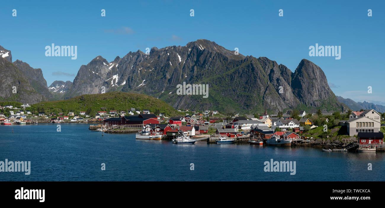 Reine, Lofoten Islands, Norway - Stock Image