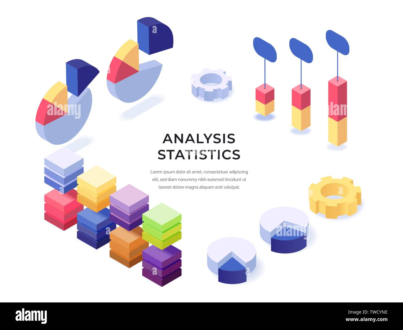 Different templates of colorful charts diagram graphs information ...