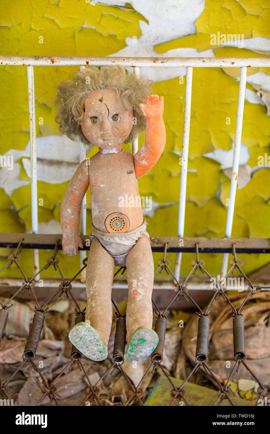 Eastern Europe, Ukraine, Pripyat, Chernobyl. doll. Stock Photo