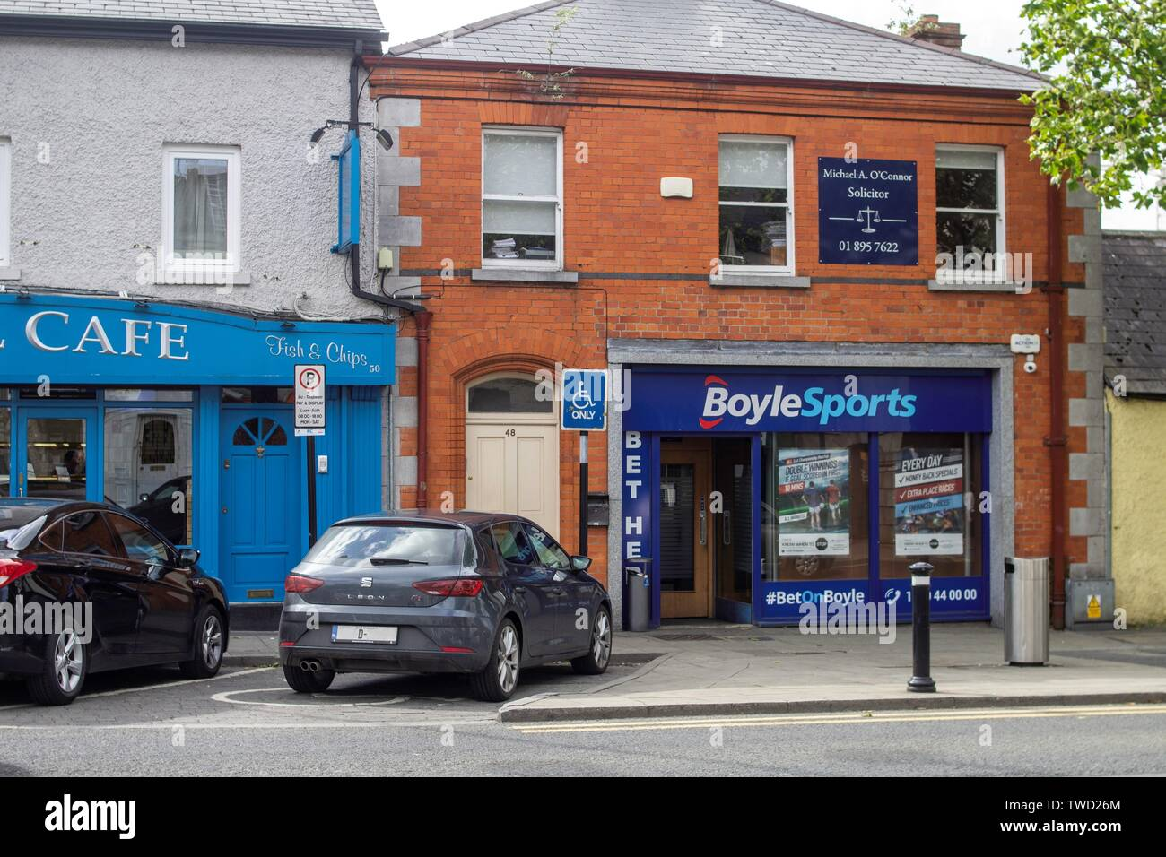 Dublin, Ireland, 17th June 2019. A branch of BoyleSports bookmakers in Swords, Co. Dublin. Stock Photo