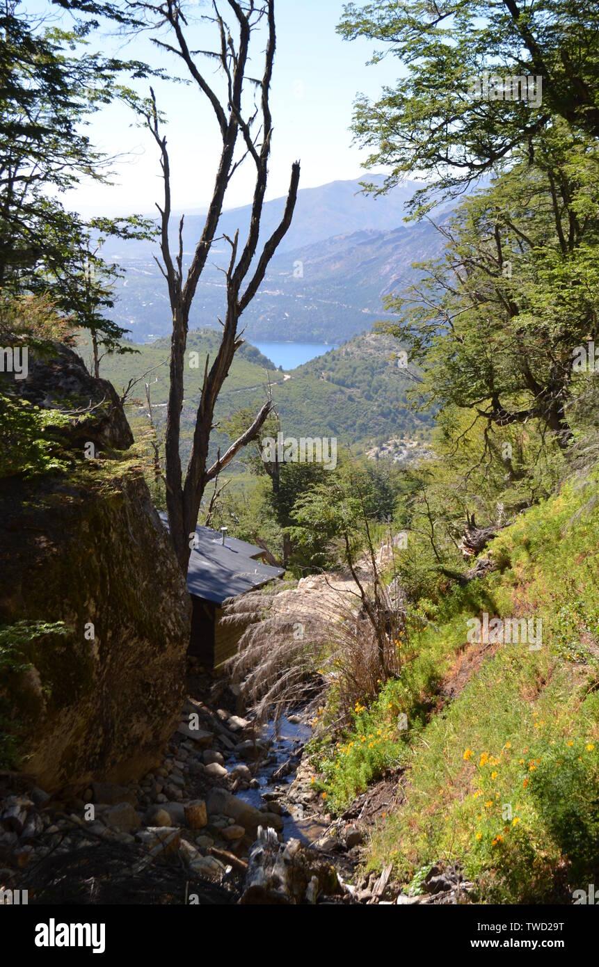Bariloche, Argentina. Landscape mountains and  Lake Nahuel Huapi. - Stock Image