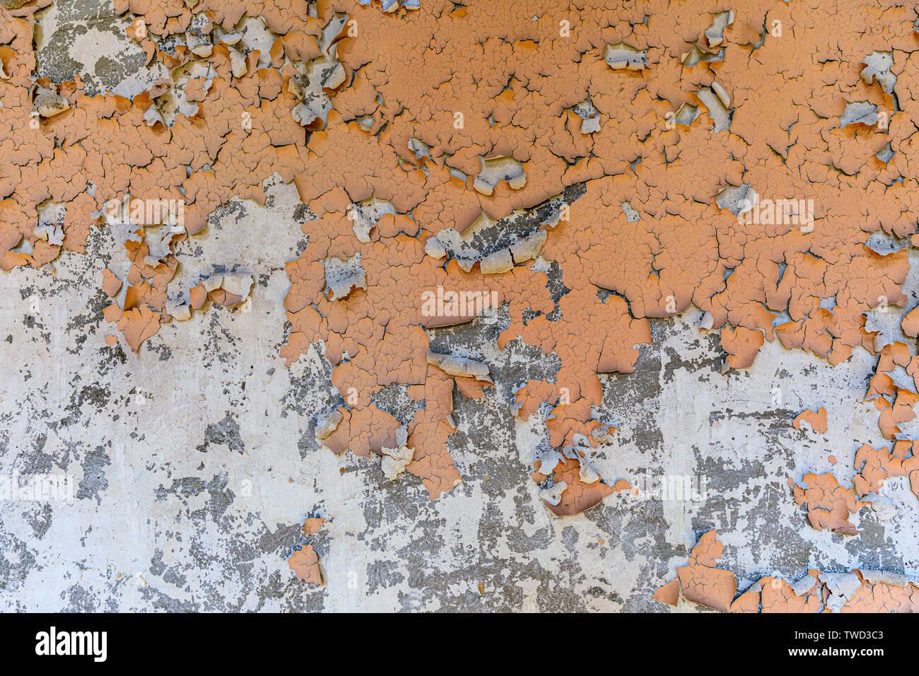 Eastern Europe, Ukraine, Pripyat, Chernobyl. Peeling paint . - Stock Image