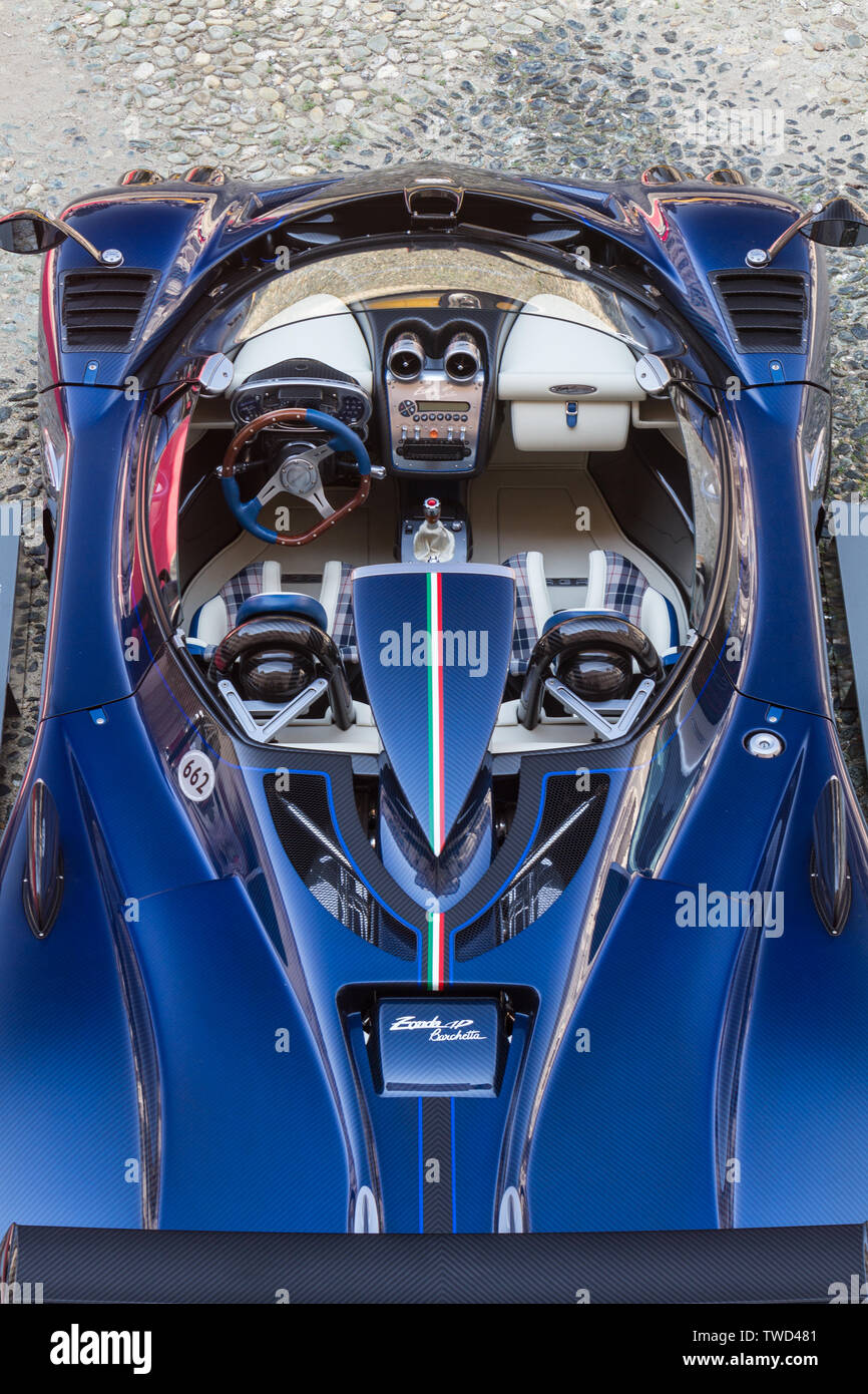 Interior View And Dashboard Of Pagani Zonda Hp Barchetta Seen From Above 2019 Edition Of Parco Valentino Car Show Hosts Cars By Many Brands And Car Designers Inside Valentino Park In Torino