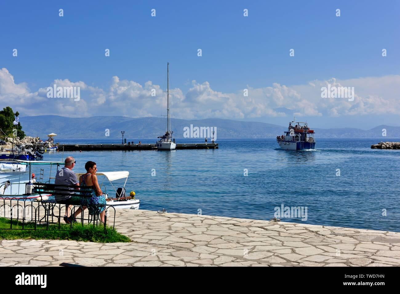 Kassiopi bay,Kassopaia,Ionian Islands, Corfu ,Greece - Stock Image