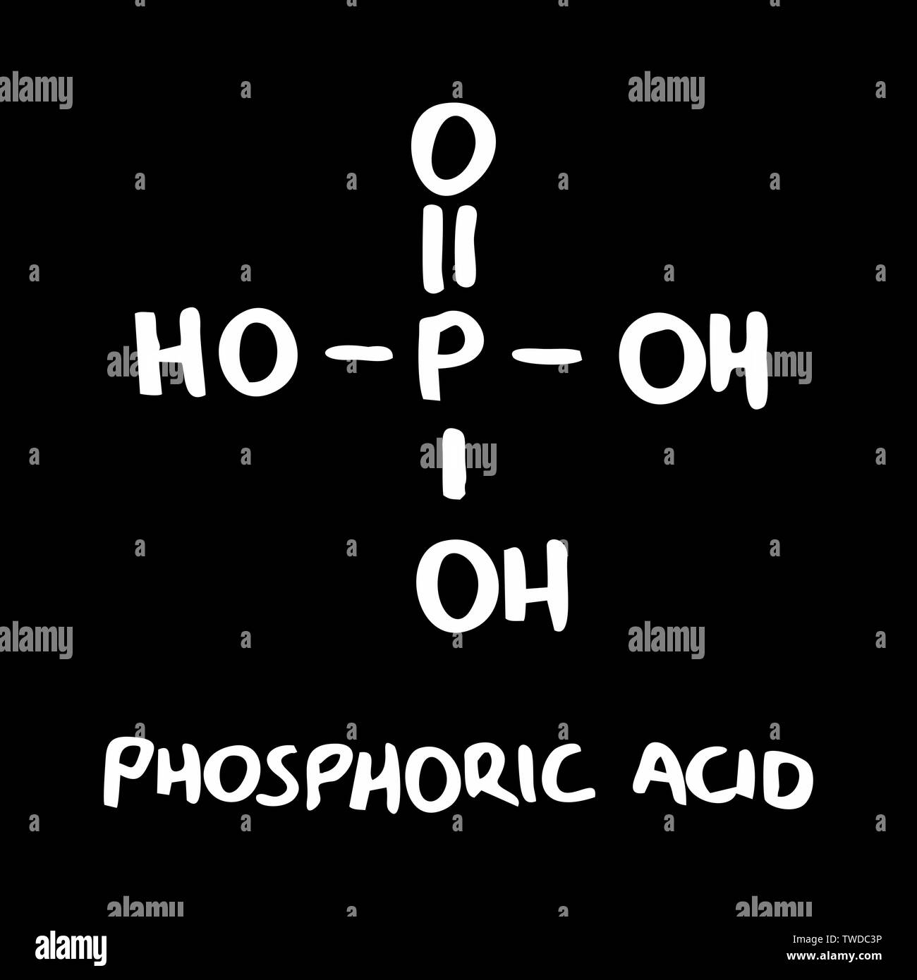 Phosphoric Acid Molecule Stock Photos & Phosphoric Acid Molecule