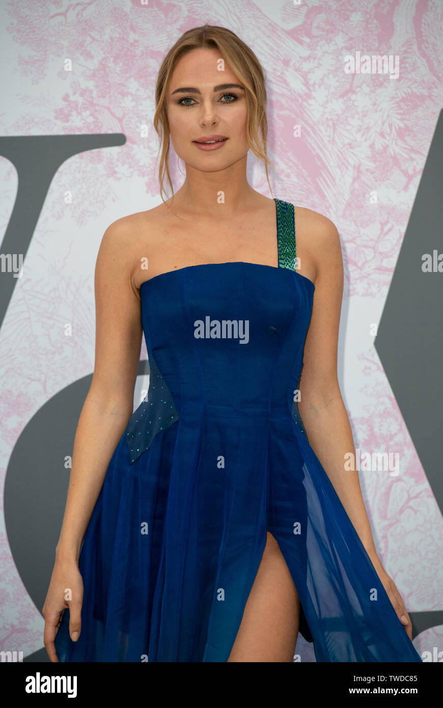 London, UK. 19th June, 2019. Kimberley Garner arrives at V&A - summer party, on 19 June 2019, London, UK Credit: Picture Capital/Alamy Live News - Stock Image