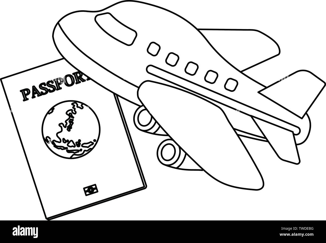 This is the Illustration of a passport. Stock Vector