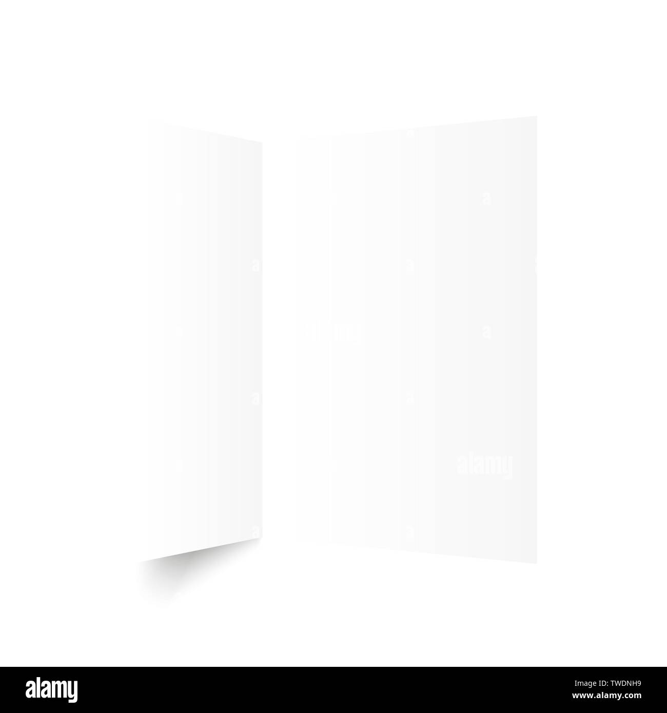 A sheet of paper folded in half. Vector - Stock Image