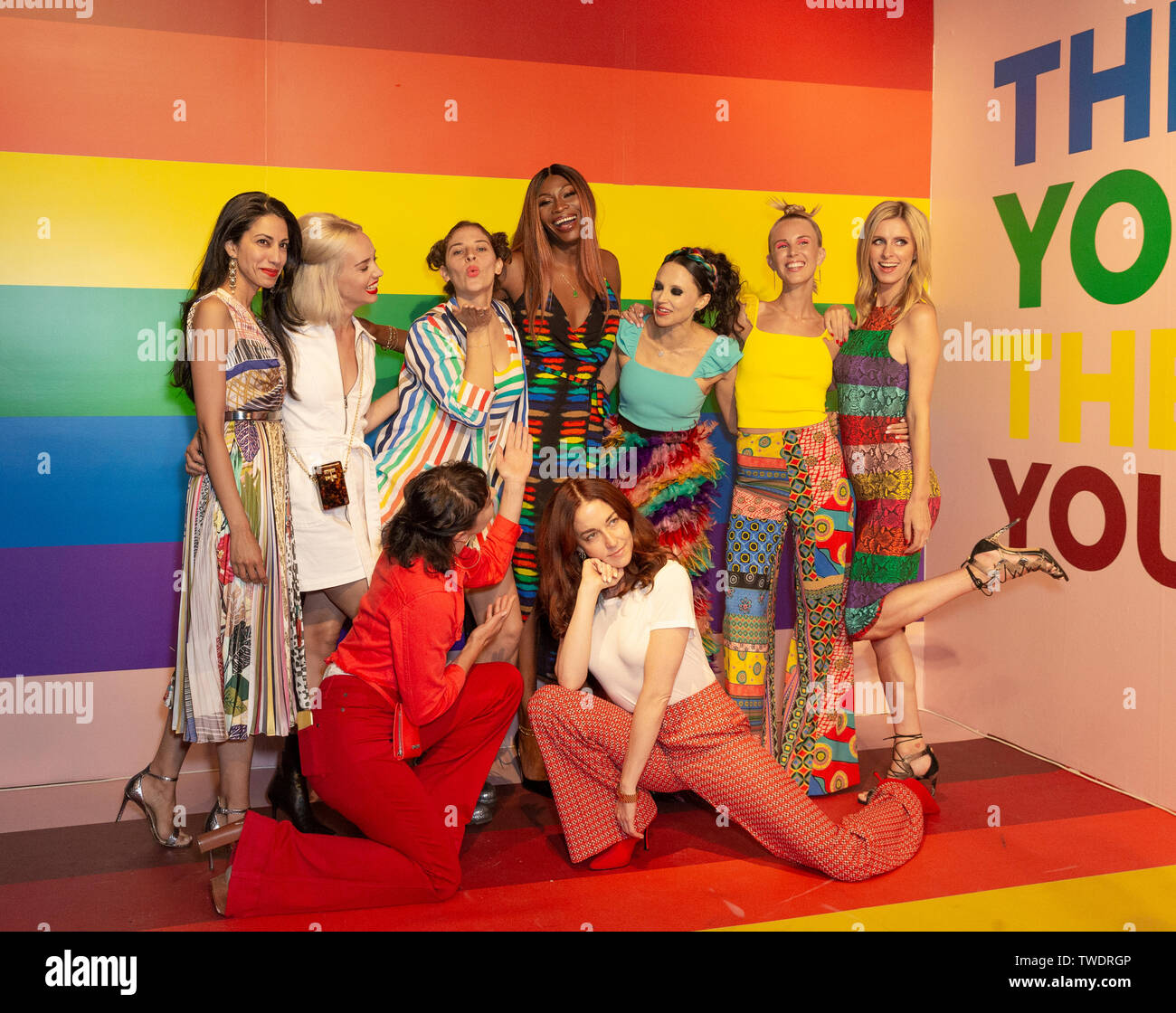 New York, United States. 18th June, 2019. Stacey Bendet and guests attend the Summer Kickoff Party for WorldPride hosted by Alice   Olivia by Stacey Bendet and the Trevor Project at Industria Studio Credit: Lev Radin/Pacific Press/Alamy Live News - Stock Image