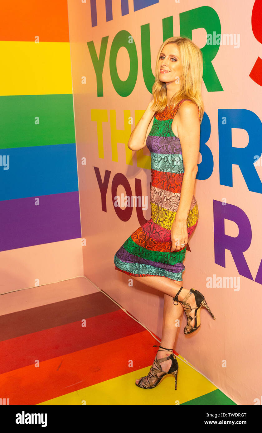 New York, United States. 18th June, 2019. Nicky Hilton Rothschild attends the Summer Kickoff Party for WorldPride hosted by Alice   Olivia by Stacey Bendet and the Trevor Project at Industria Studio Credit: Lev Radin/Pacific Press/Alamy Live News - Stock Image