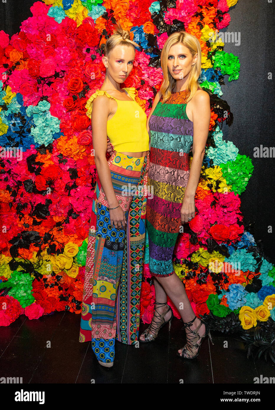 New York, United States. 18th June, 2019. Tessa Hilton, Nicky Hilton Rothschild attend the Summer Kickoff Party for WorldPride hosted by Alice   Olivia by Stacey Bendet and the Trevor Project at Industria Studio Credit: Lev Radin/Pacific Press/Alamy Live News - Stock Image