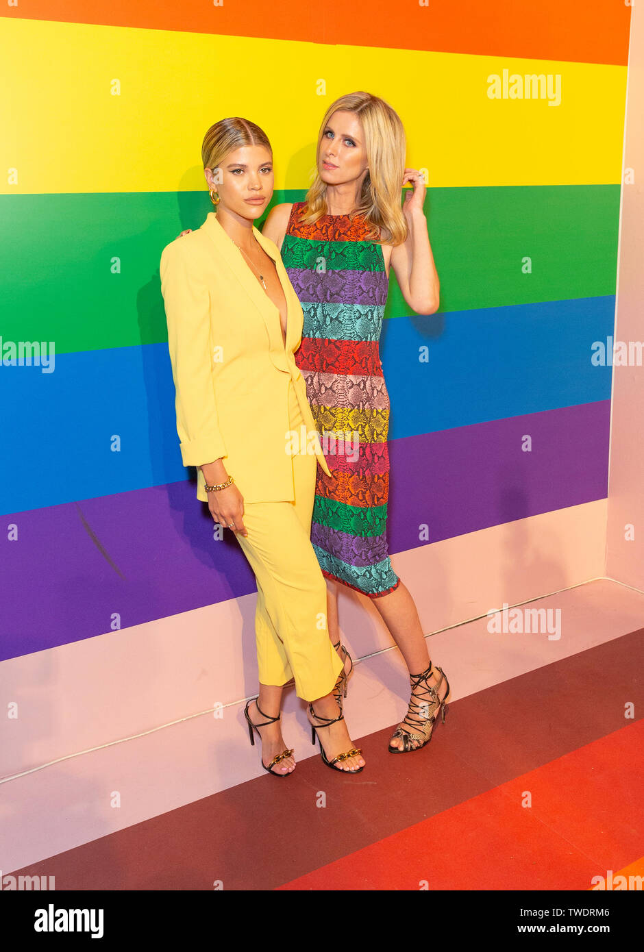 New York, United States. 18th June, 2019. Sofia Richie and Nicky Hilton Rothschild attend the Summer Kickoff Party for WorldPride hosted by Alice   Olivia by Stacey Bendet and the Trevor Project at Industria Studio Credit: Lev Radin/Pacific Press/Alamy Live News - Stock Image