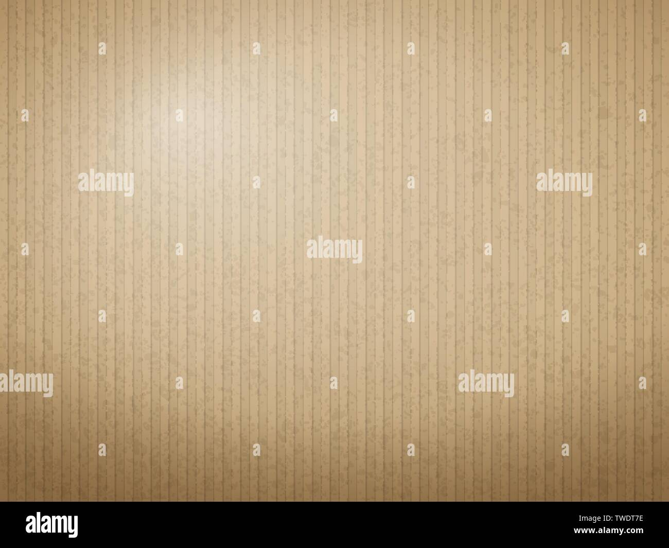 Brown cardboard paper texture for background. Vector illustration. - Stock Image