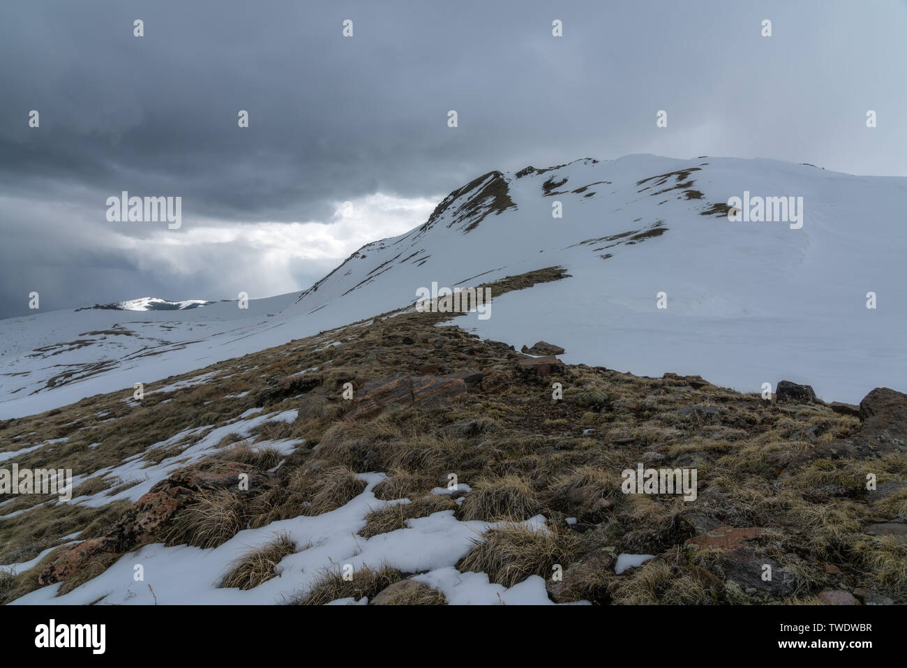 Hiking from Guanella Pass, near Georgetown, Colorado. - Stock Image
