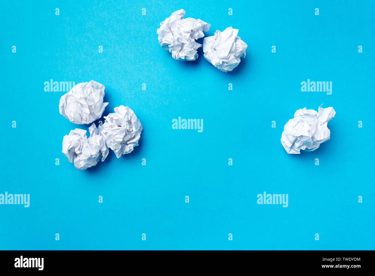 ball of white paper - Stock Image