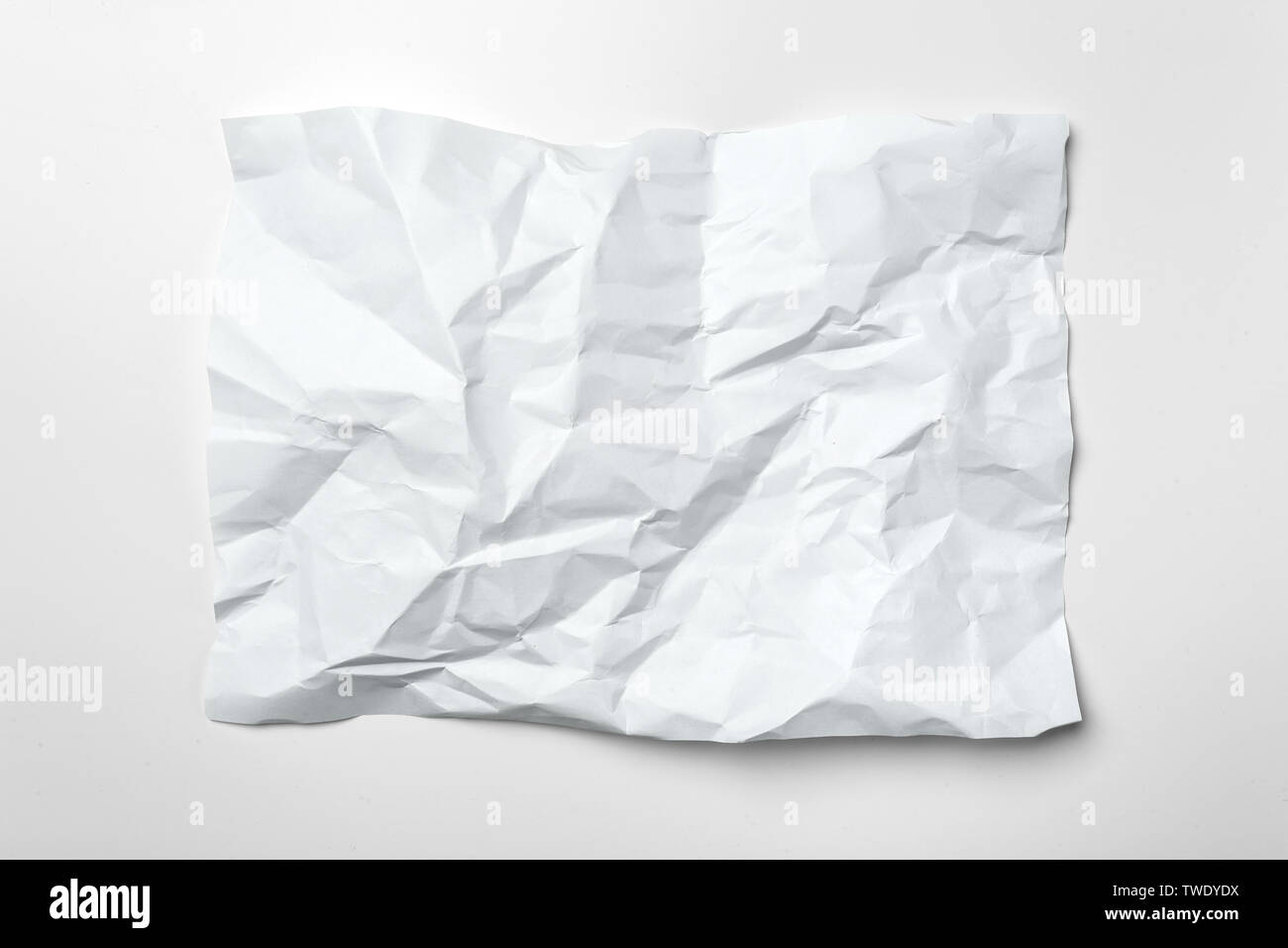 White crumpled paper - Stock Image