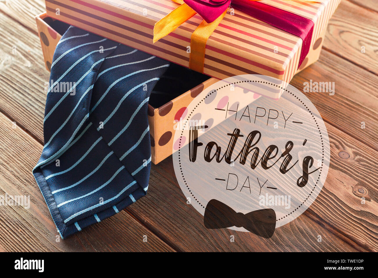 Composite image of happy fathers day - Stock Image