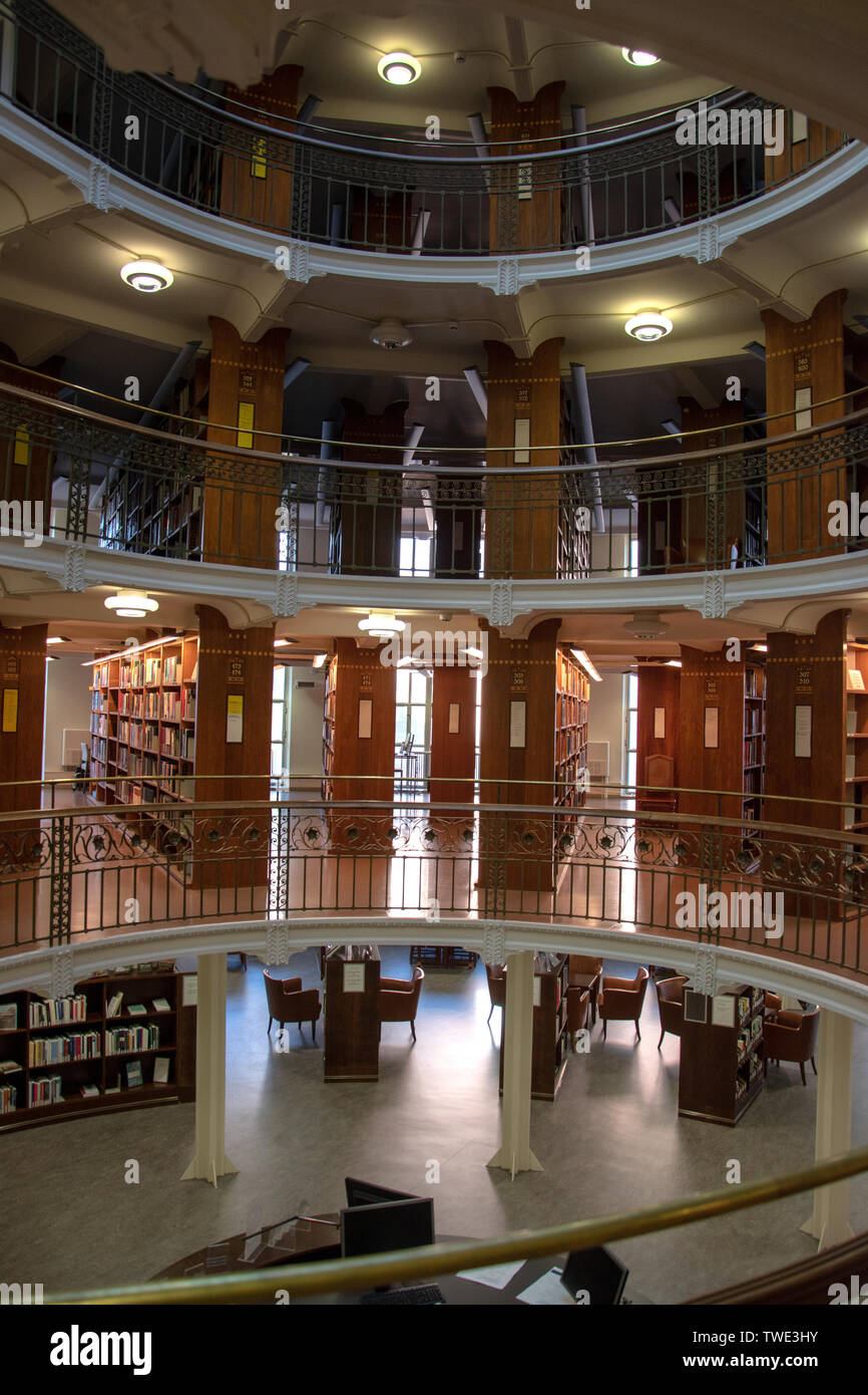 The National Library of Finland (Finnish: Kansalliskirjasto, Swedish: Nationalbiblioteket) is the foremost research library in Finland. Administrative Stock Photo