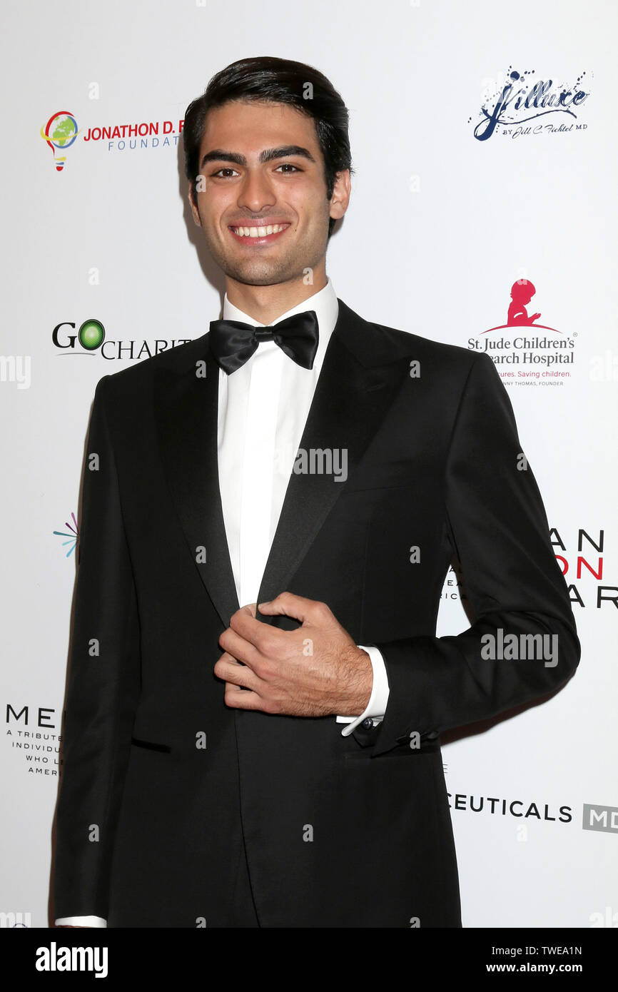 American Icon Awards at the Beverly Wilshire Hotel on May 19, 2019 in Beverly Hills, CA Featuring: Matteo Bocelli Where: Beverely Hills, California, United States When: 20 May 2019 Credit: Nicky Nelson/WENN.com - Stock Image