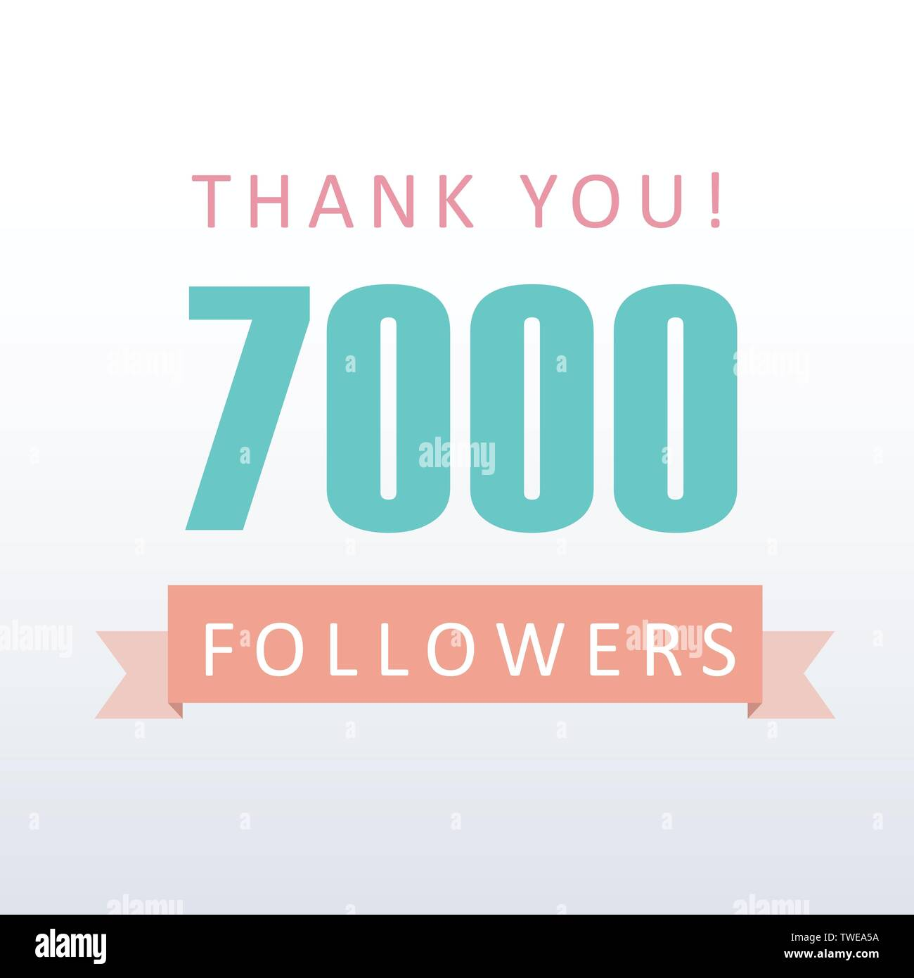 7000 Followers Thank You Number With Banner Social Media Gratitude Stock Vector Image Art Alamy