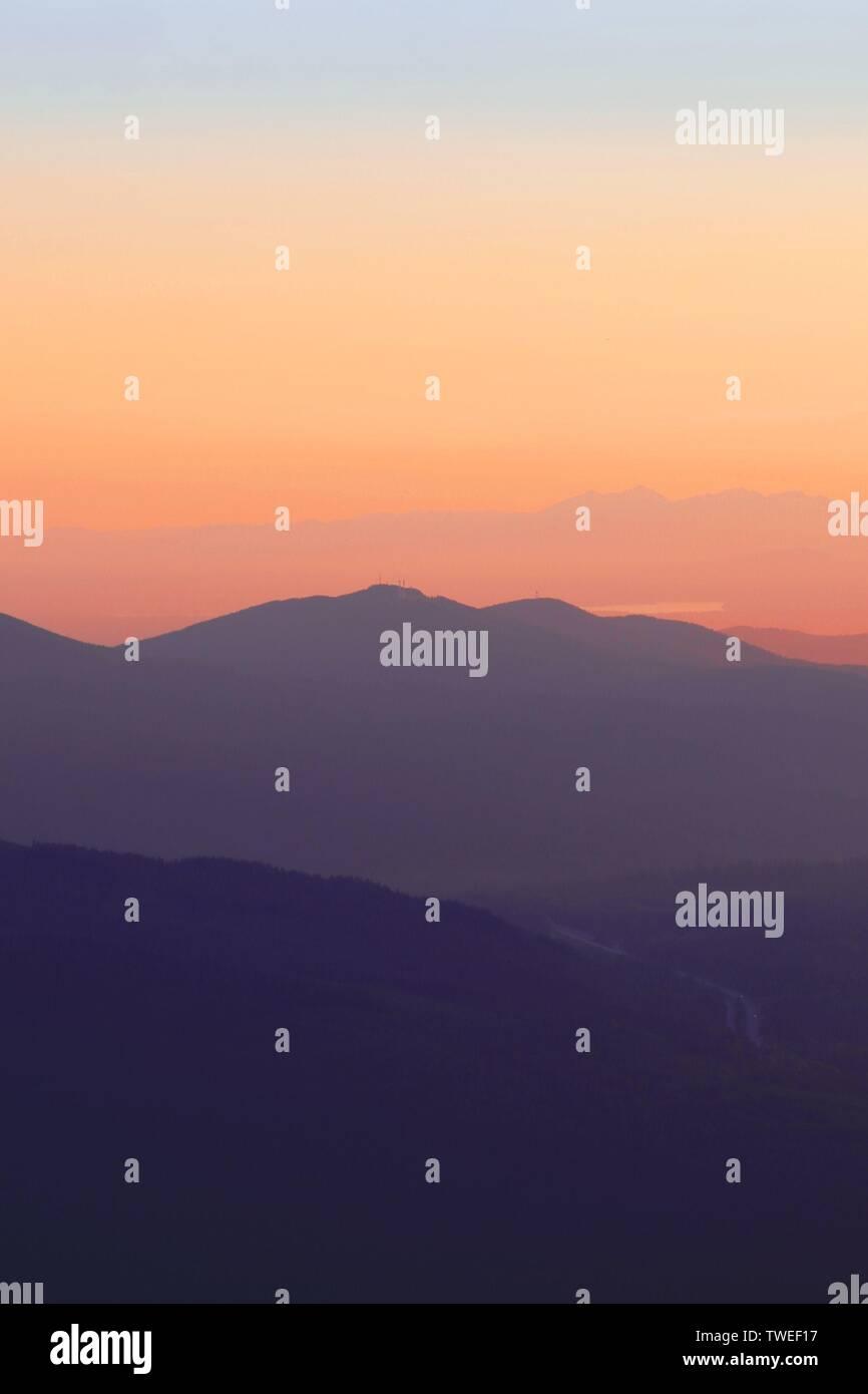 Farbverläufe bei Sonnenuntergang - Stock Image
