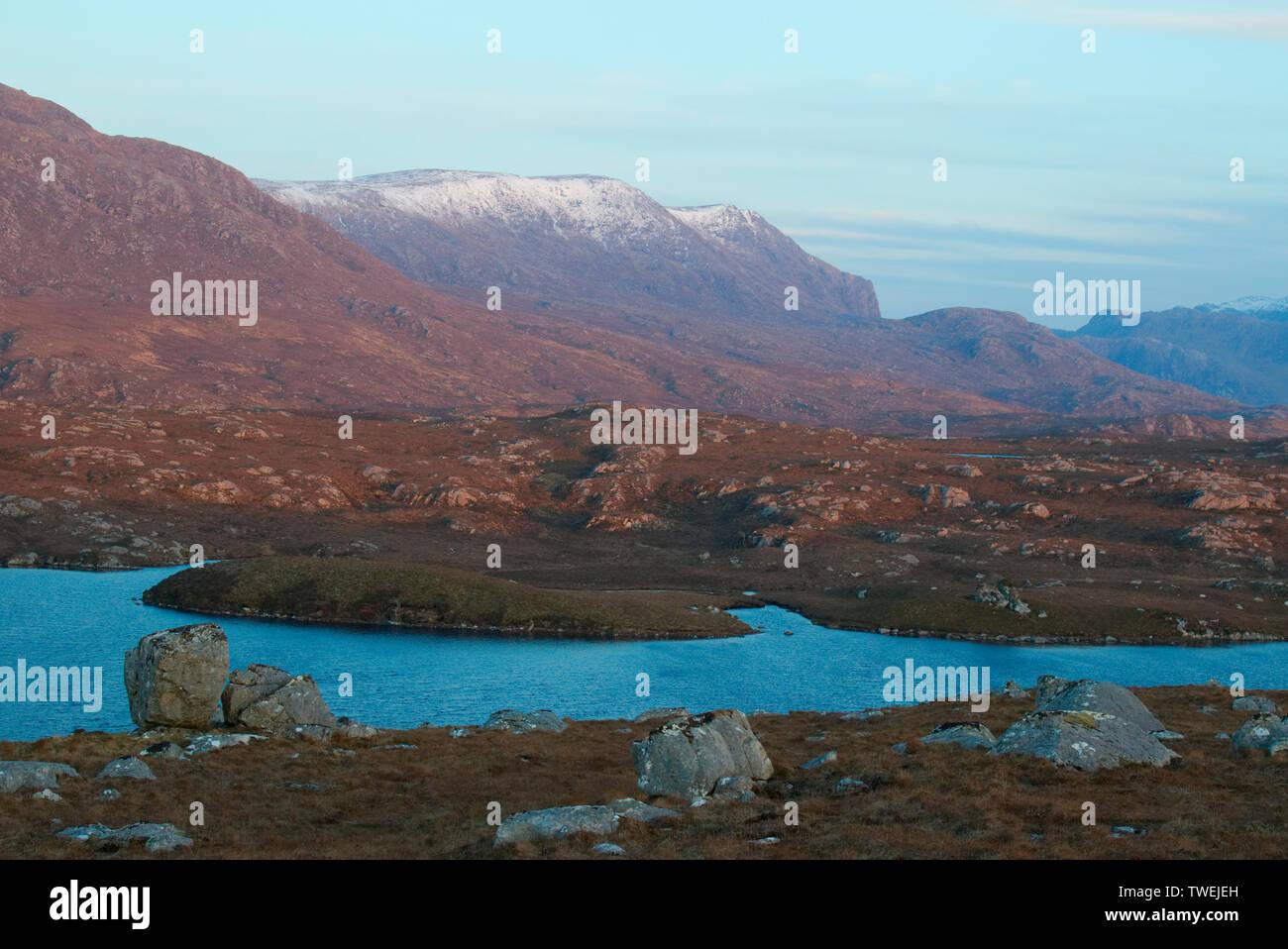 Rugged Wester Ross landscape, Highland Scotland - Stock Image
