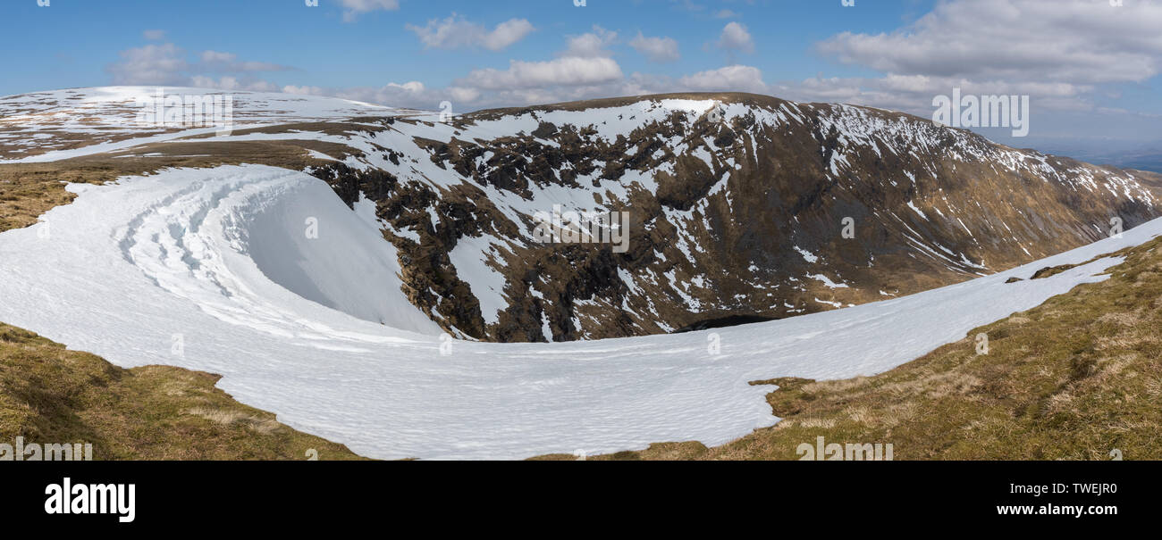 Puist Coire Ardair across Moy Corrie, Creag Meagaidh National Nature Reserve, Scotland - Stock Image