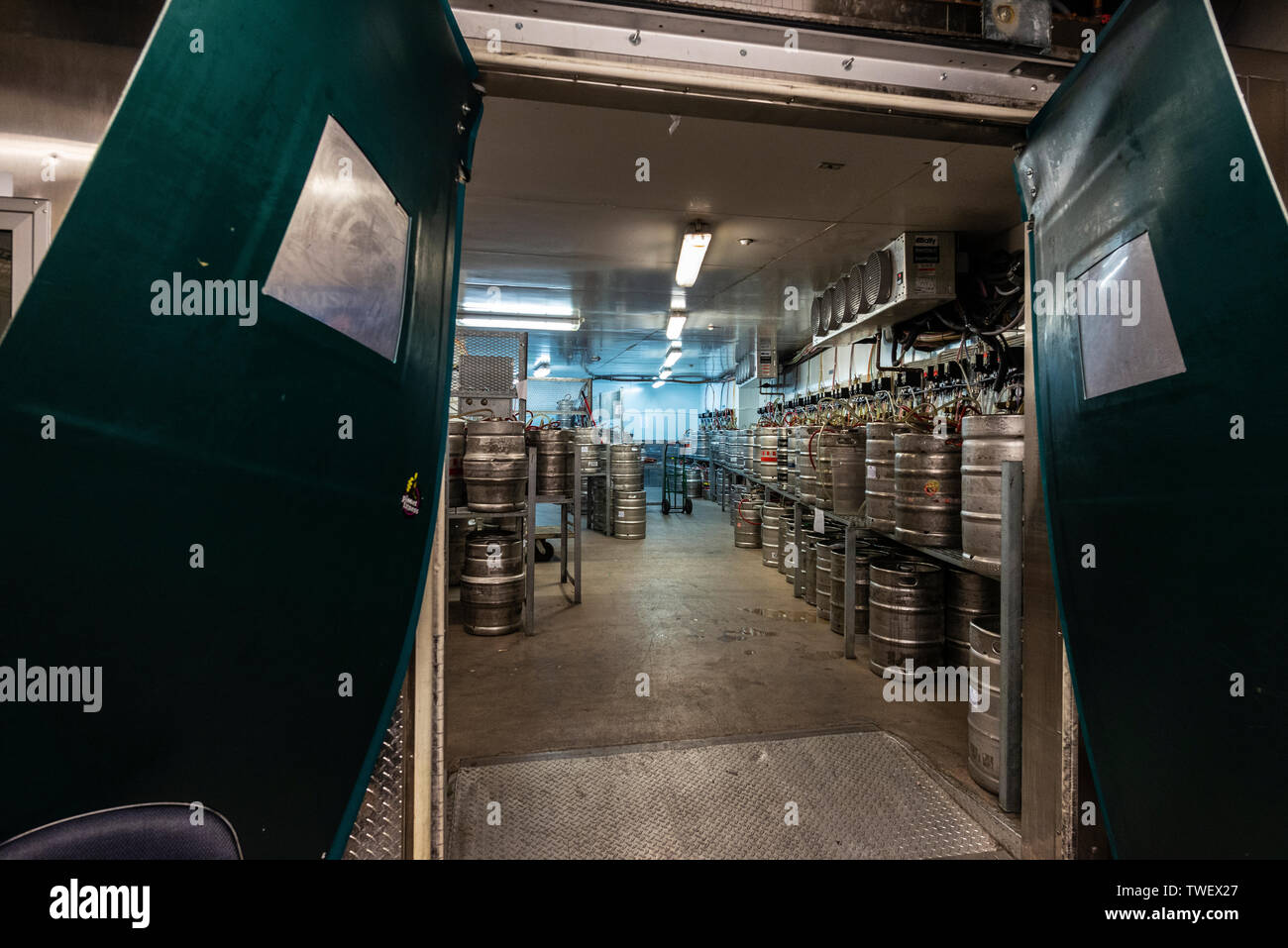 New York City Usa July 31 2018 Stock Of Beer Barrels And Soft