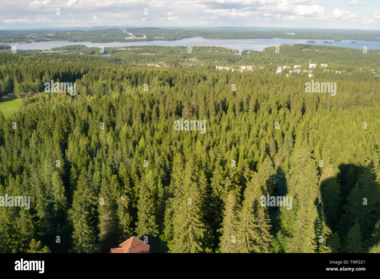 Landscape of Kuopio from the Puijo Lookout - Stock Image