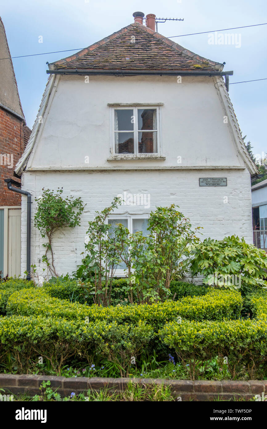 A cottage which was once the studio of the famous painter John Constable. Stock Photo