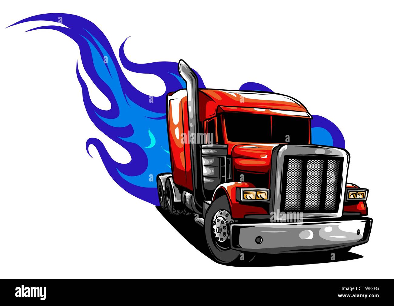Cartoon Truck High Resolution Stock Photography And Images Alamy