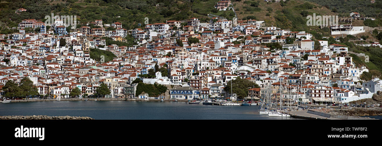 Skopelos Town, Northern Sporades Greece. - Stock Image