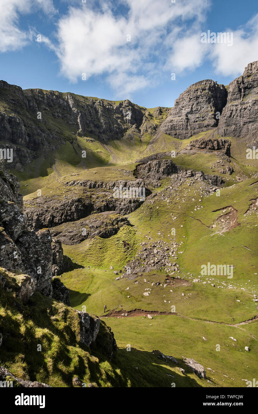The Storr Canyon at Trotternish on the Isle of Skye. - Stock Image