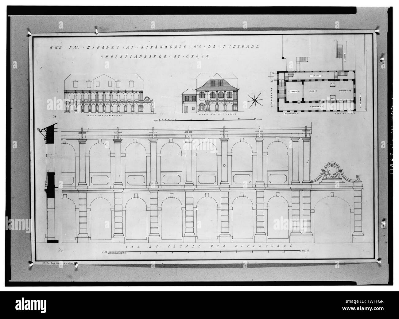 Cross Section House Black and White Stock Photos & Images