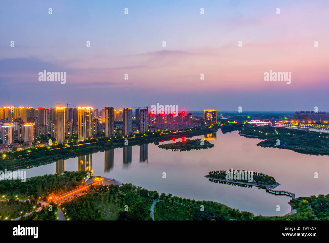 Delta Park, Xianqiao District, Suzhou City Stock Photo