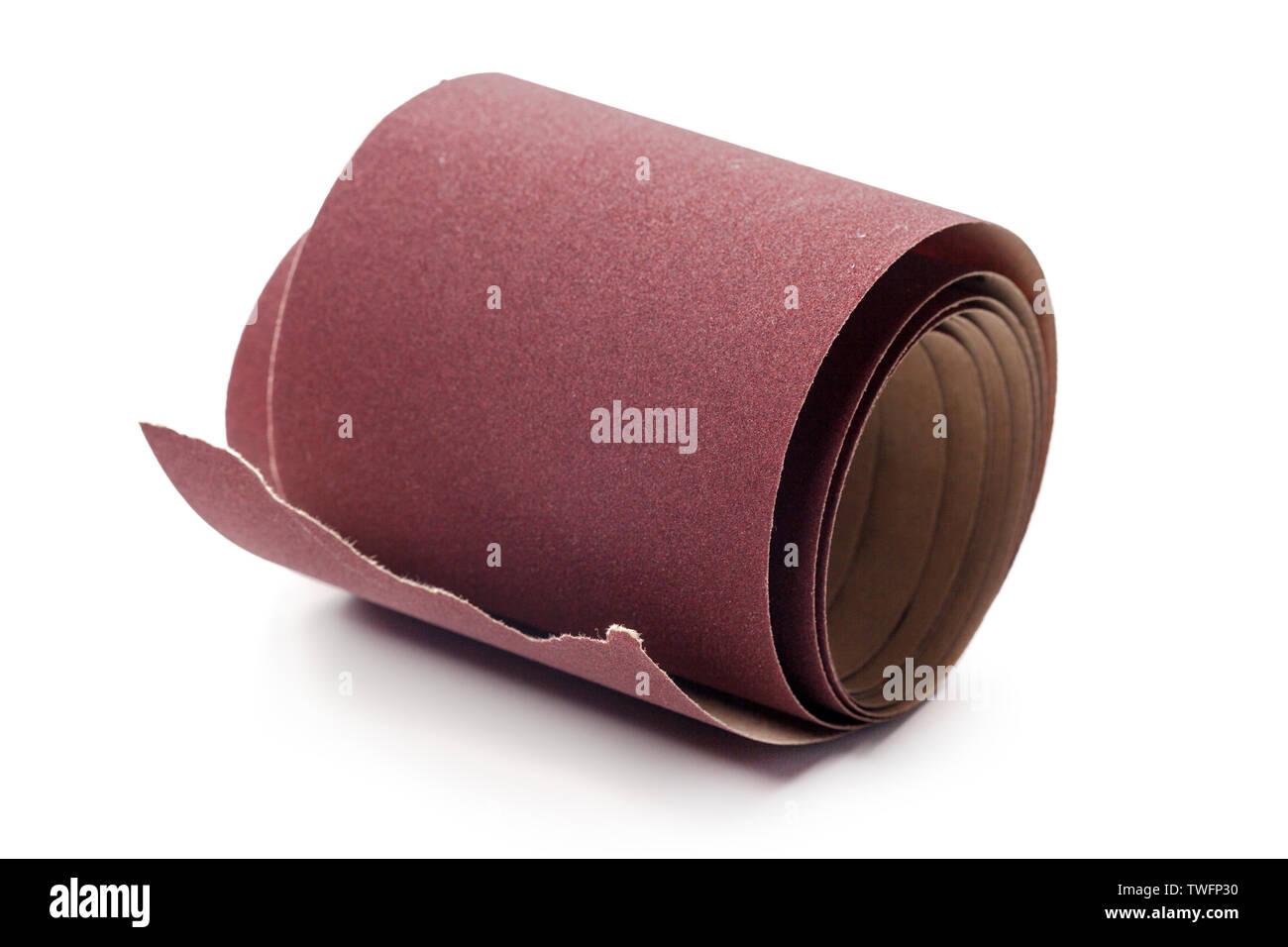 Emery paper - sandpaper - Stock Image