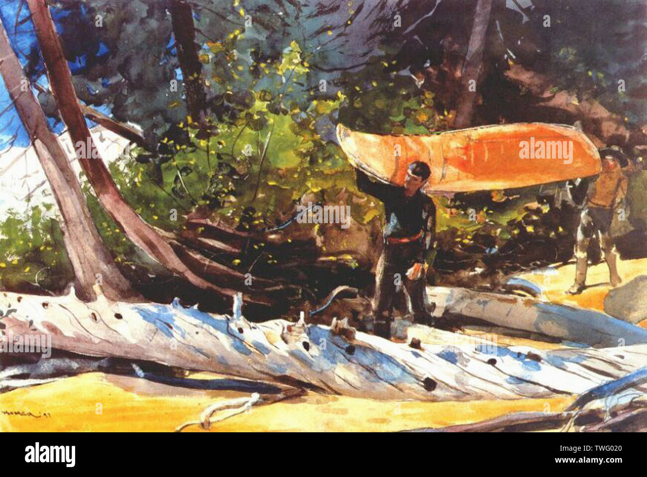 Winslow Homer - End Portage 1897 Stock Photo