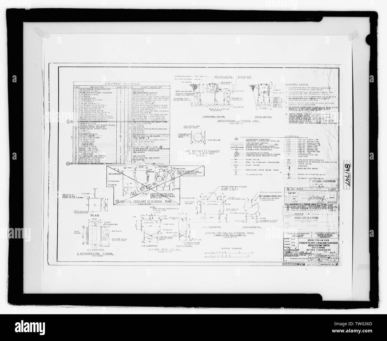 power plant engine fuel oil piping diagrams, sheet 83 of 130 - naval air  station fallon, power plant, 800 complex, off carson road near intersection  of