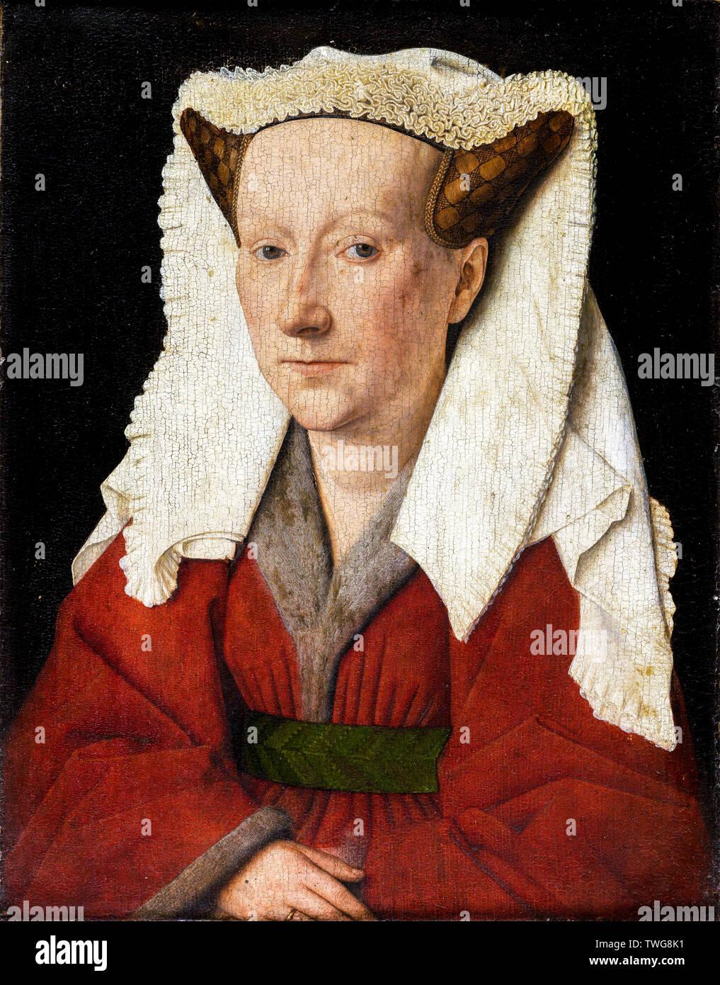 Jan van Eyck, Margareta van Eyck, portrait painting, 1439 Stock Photo