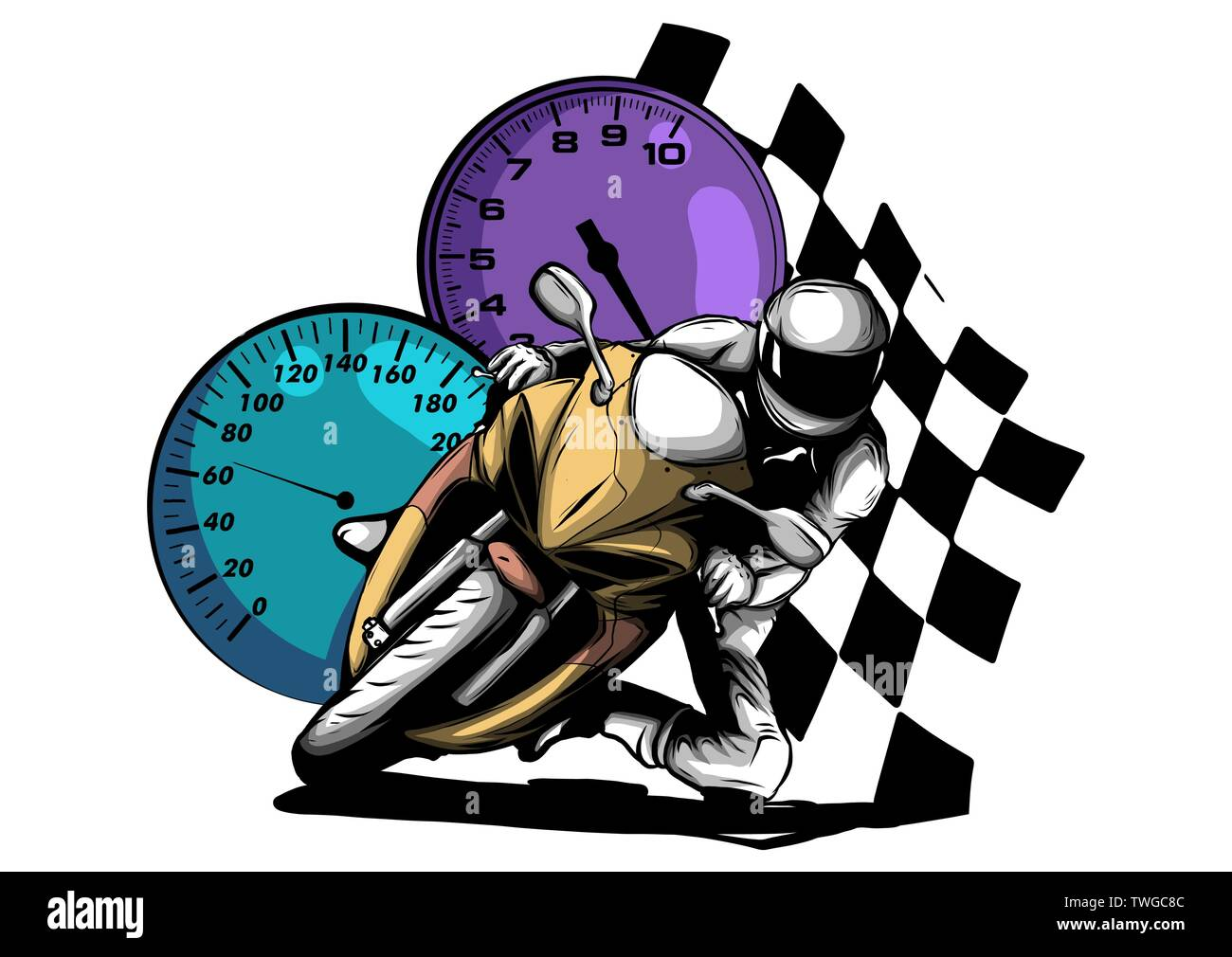 Road Motorcycle Rider Abstract Vector Silhouette Motor Sport Logo Illustration Stock Vector Image Art Alamy