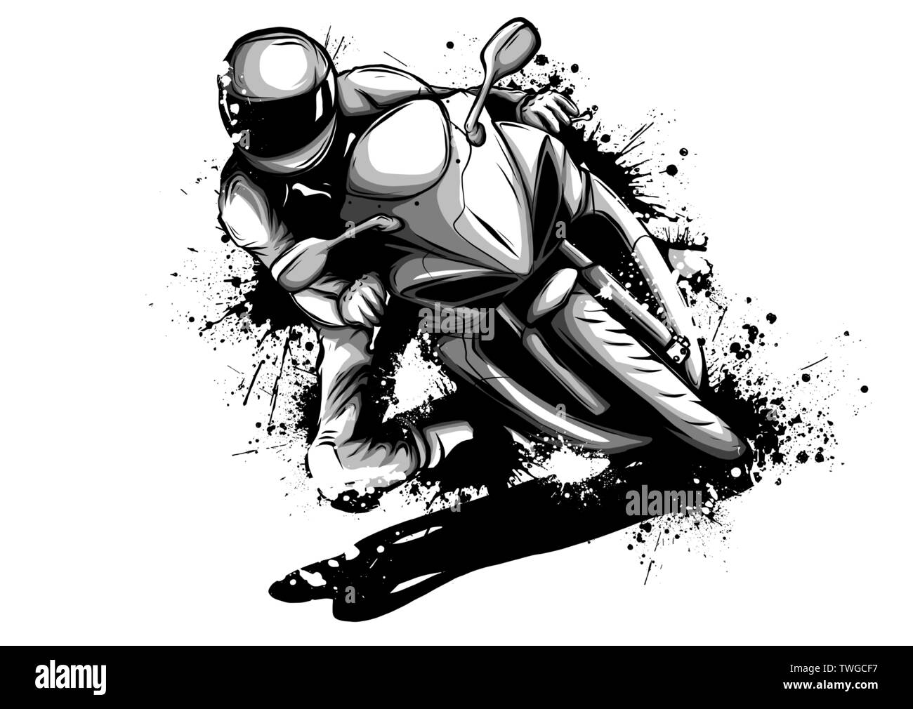motorbike logo high resolution stock photography and images alamy https www alamy com racer riding motorbike logo isolated on background of night sky side view of man in helmet motorbilker on scooter vector illustration male on bike image256672619 html