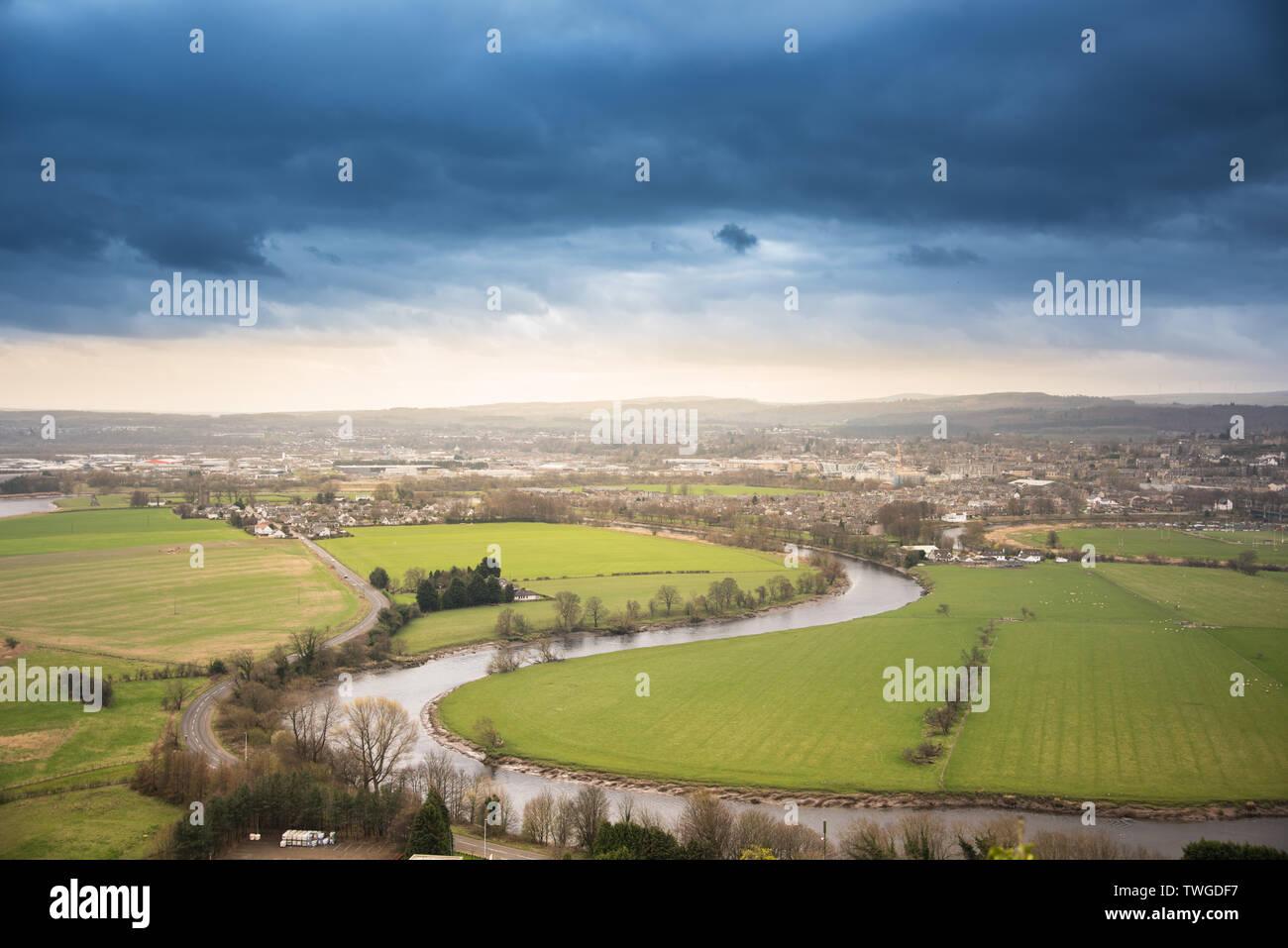 City of Stirling panorama - Scotland, urban photo - Stock Image