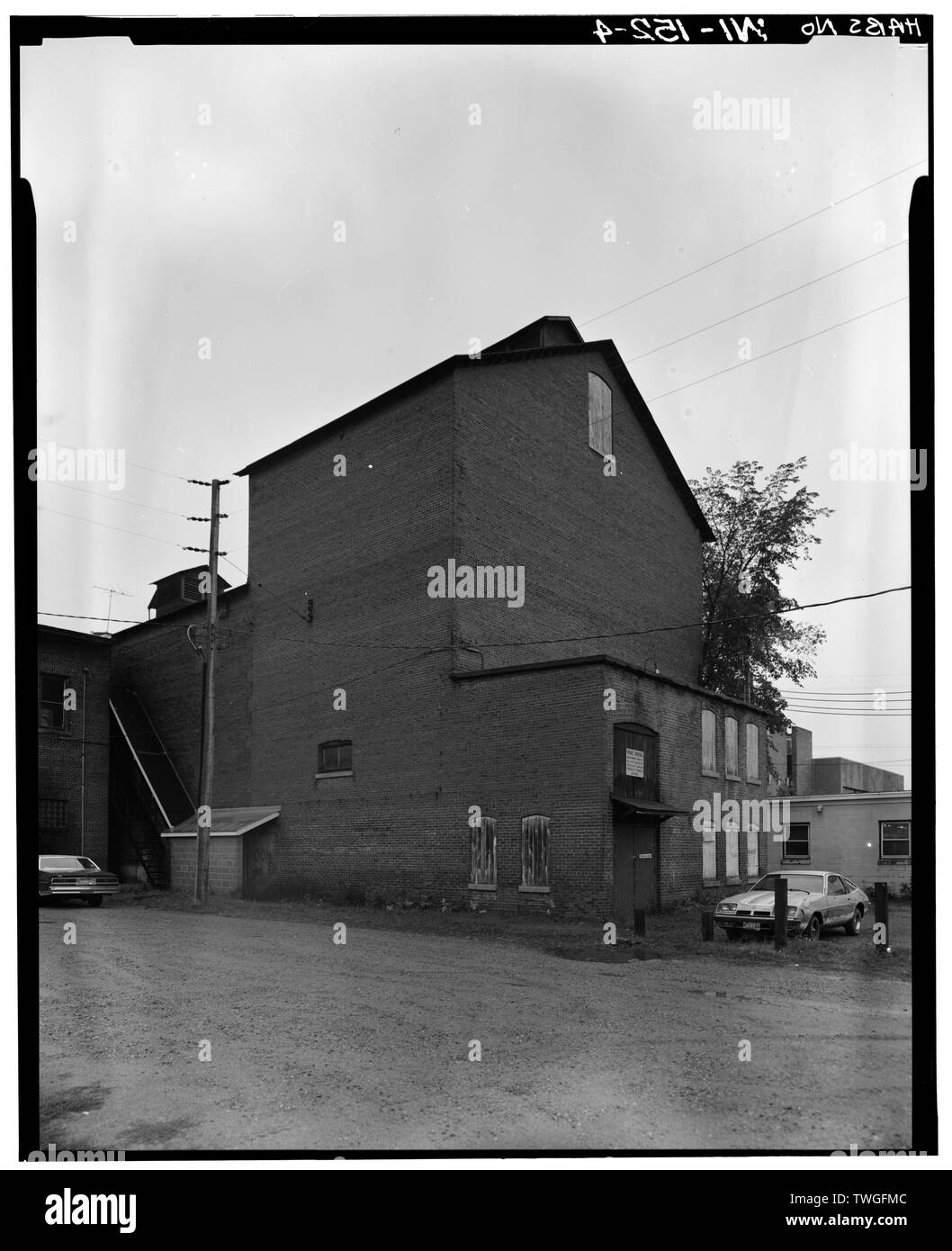 REAR VIEW TO SOUTHWEST - G. F. Andrae Opera House, 1124 Main Street, Stevens Point, Portage County, WI Stock Photo